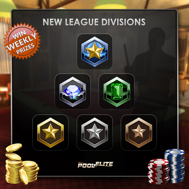 pool elite new league divisions elo