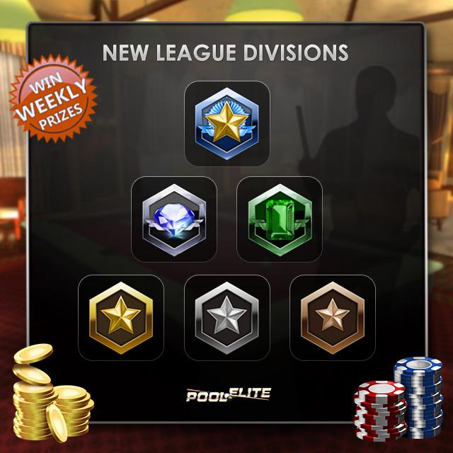 pool elite new league divisions elo