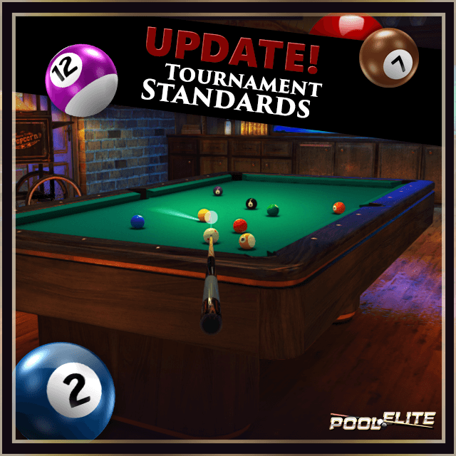 tournament standards in pool elite 8 ball 9 ball snooker carom 3 cushion online pool game