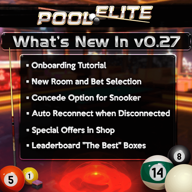 pool elite trick shot 8 ball 9 ball carom 3 cushion snooker online browser pool game