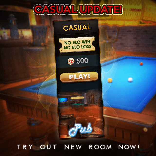 pool elite trick shot 8 ball 9 ball carom 3 cushion snooker online casual games browser pool game lucky spin permanent lifetime spin casual new room elo
