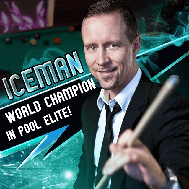 pool elite trick shot 8 ball 9 ball carom 3 cushion snooker online browser pool game lucky spin permanent lifetime spin veteran online billiards game mika immonen iceman champion nine-ball poolelite