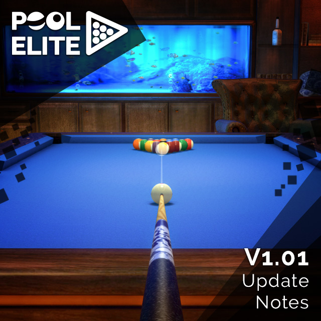 pool elite 3d billiards game free mobile v1.0 update güncelleme casual match ranked match solo friendly chips matchmaking how to play snooker carom karambol 3 bant unequip v1.01
