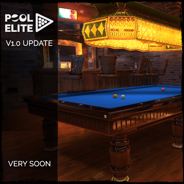 pool elite 3d billiards game free mobile v1.0 update güncelleme casual match ranked match solo friendly chips matchmaking how to play snooker carom karambol 3 bant unequip v1.01 v1.02 trophy seasonal leagues power bar lokum games iceman challenge login rewards