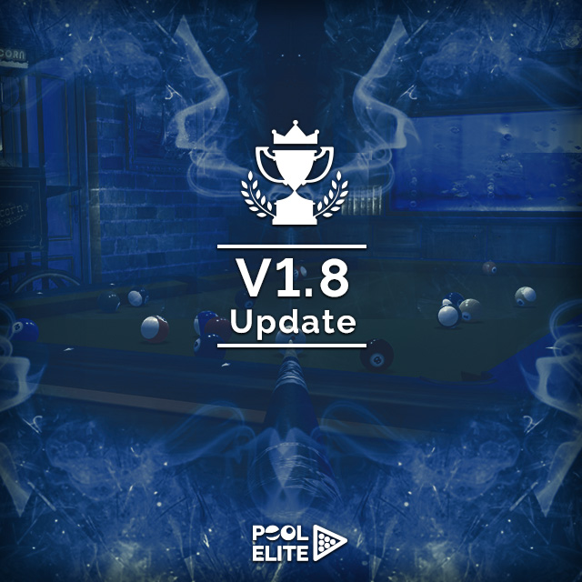 pool elite trick shot 8 ball 9 ball carom 3 cushion snooker online browser pool game lucky spin permanent lifetime spin veteran online billiards game tournement New Ranked System is Live with V1.8 Update