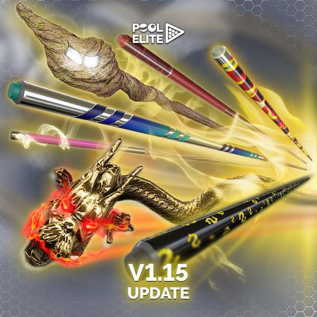 pool elite v1.15 update new cue sticks accessories free billiards pool 8 ball snooker carom online billiards