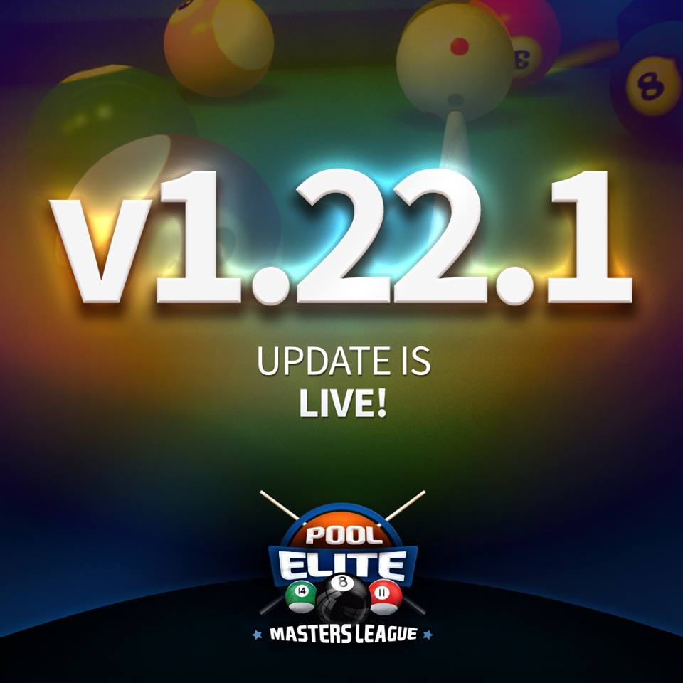 pool elite masters league 1.22.1 update 8 ball pool snooker 9 ball carom 3 cushion 3d billiards game